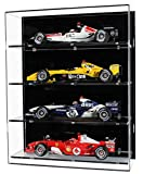 Widdowsons Display Cases Vitrina de pared para cuatro coches modelo Fórmula 1,...