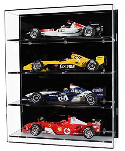 Plexiglas -Wand -Vitrine für Vier Maßstab 1:18 Modell Formula One Autos
