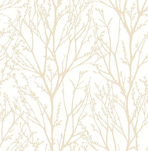 BHF fd22442'KJ azmaara Autunno Albero Carta da parati, colore: oro