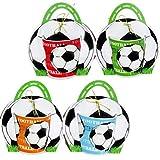 Lote de 20 Tazas Fútbol en Bolsa de Regalo - Originales y prácticos recuerdos para Fiestas de Cumpleaños e invitados de...