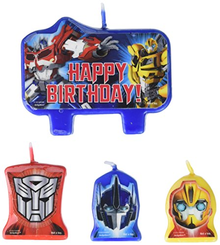 "amscan Transformers Birthday Candles,Blue,3"" X 1"""