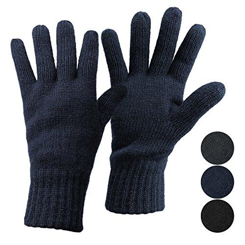 ALPIDEX Thermo Strickhandschuhe Thinsulate Handschuhe Damen Herren Warme Winter Handschuhe, Größe:M, Farbe:Dark Blue