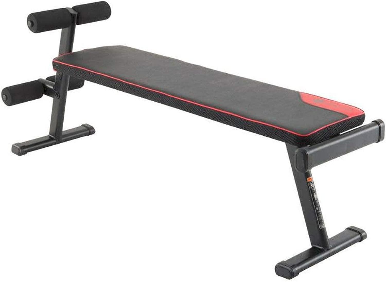 トレーニングベンチ ホームフィットネスチェア多機能フィットネスダンベルトレーニングビッグフラットスツール商業ジムスポーツ機器ベンチベアリング (色 : ブラック, サイズ : 135x35x55cm)