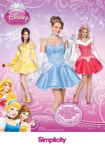 Simplicity us1553r5 maat R5 patroon Disney Princess kostuum