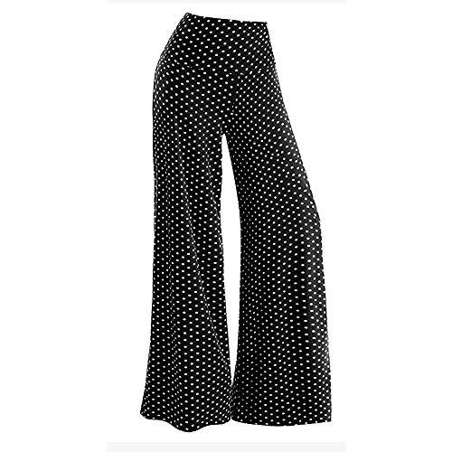 BYOGAZT Pantalones de Yoga para Mujer Pantalones Casuales de Punto elásticos de Pierna Ancha Palazzo Lounge Pant Pantalones Sueltos de Mujer Yogas-3xl Pantalón Suelto