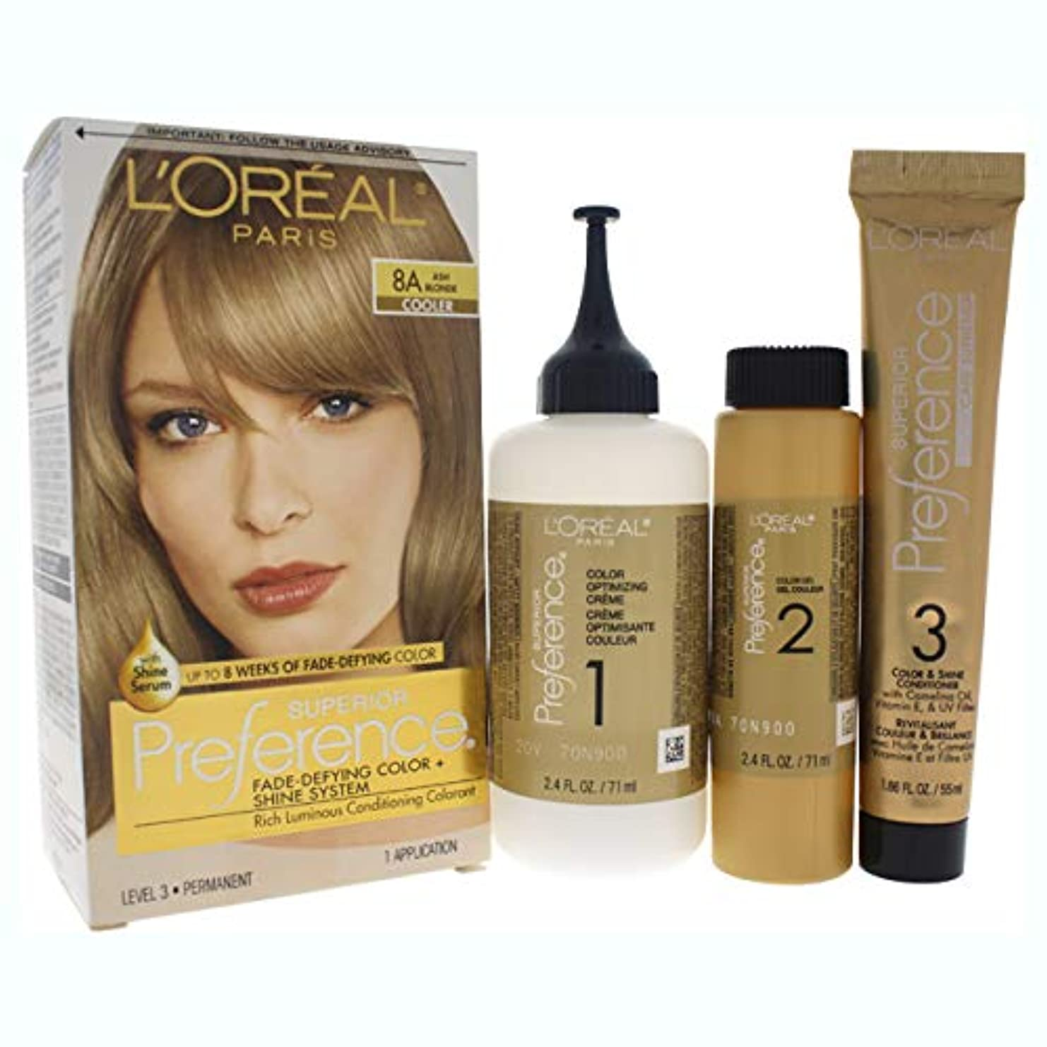 トライアスリート対応物語L'Oreal Paris 県Haircol 8Aサイズ1CTロレアルプリファレンスヘアカラーアッシュブロンド#8(a)