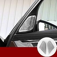 内部ドアオーディオスピーカートリムカバー2pcs for BMW 7シリーズg11g1220162017