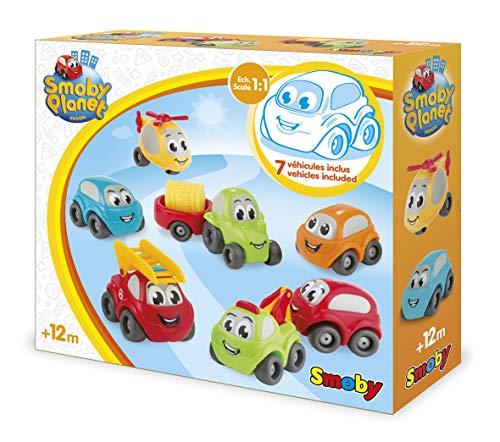 Smoby Vroom Planet 120220 Set mit 7 Sammlern – Kleine Flügel für Babys ab 12 Monaten