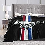 Baulerd Original Classic Vintage Mustang Emblem Ultra-Soft Micro Fleece Blanket 50'' x40