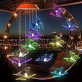 Alupper Carillon à vent solaire en forme de papillon - Changement de...