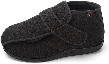 Verstelbare Oedeem Schoenen Dames Extra Breed,High-top thermische katoenen schoenen, klittenband verstelbare comfortabele ...