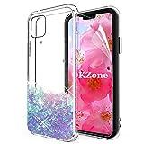 OKZone Cover iPhone 11 PRO Max (6,5 Pollici), 3D Glitter Liquido Brillantini Sequin Copertura Fluttuante Quicksand Scintillio Protettiva Custodia per Apple iPhone 11 PRO Max (Blu)