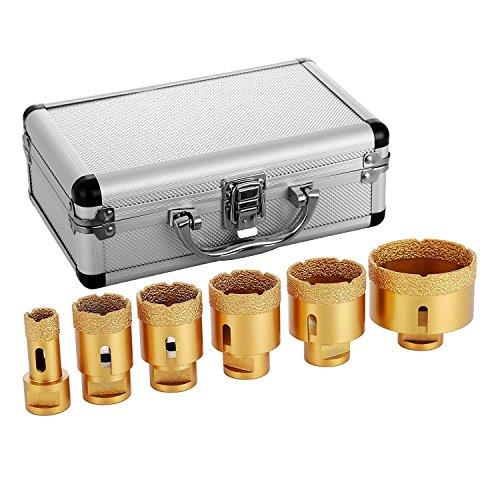 Mophorn Diamant Lochsäge 6 PCS M14 20/35/40/45/50/68mm Diamantbohrer-Set 0,8/1,4/1,6/1,8/2/2,7 inch für Granit-Feinsteinzeug und Fliesen