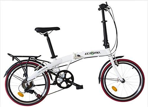 Bici da città pieghevole, con telaio in lega leggera da 50,80 cm, 12 kg, di ECOSMO, modello 20AF09W