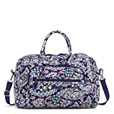 Vera Bradley Signature Cotton Compact Weekender Travel Bag, French Paisley