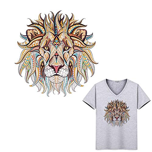 LUCYPAPASHOW Bordado Parche Adhesivos Planchado Pegatinas Tela Ropa león para Camiseta Everyone
