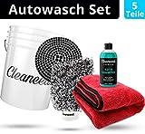 PREMIUM Einsteiger Auto Reinigungsset [5 Teile] – Ideales Einsteiger Autopflege Set – Alles für...