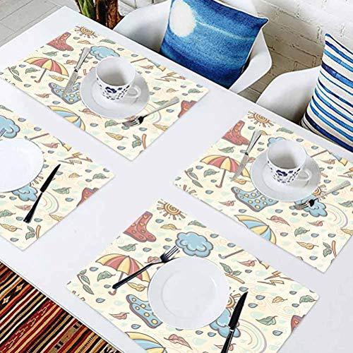 L'sWOW - Set di 8 sottobicchieri per tavolo da pranzo, decorazione per ristorante, senza soluzione di continuità, per tavoli, feste e altre occasioni speciali