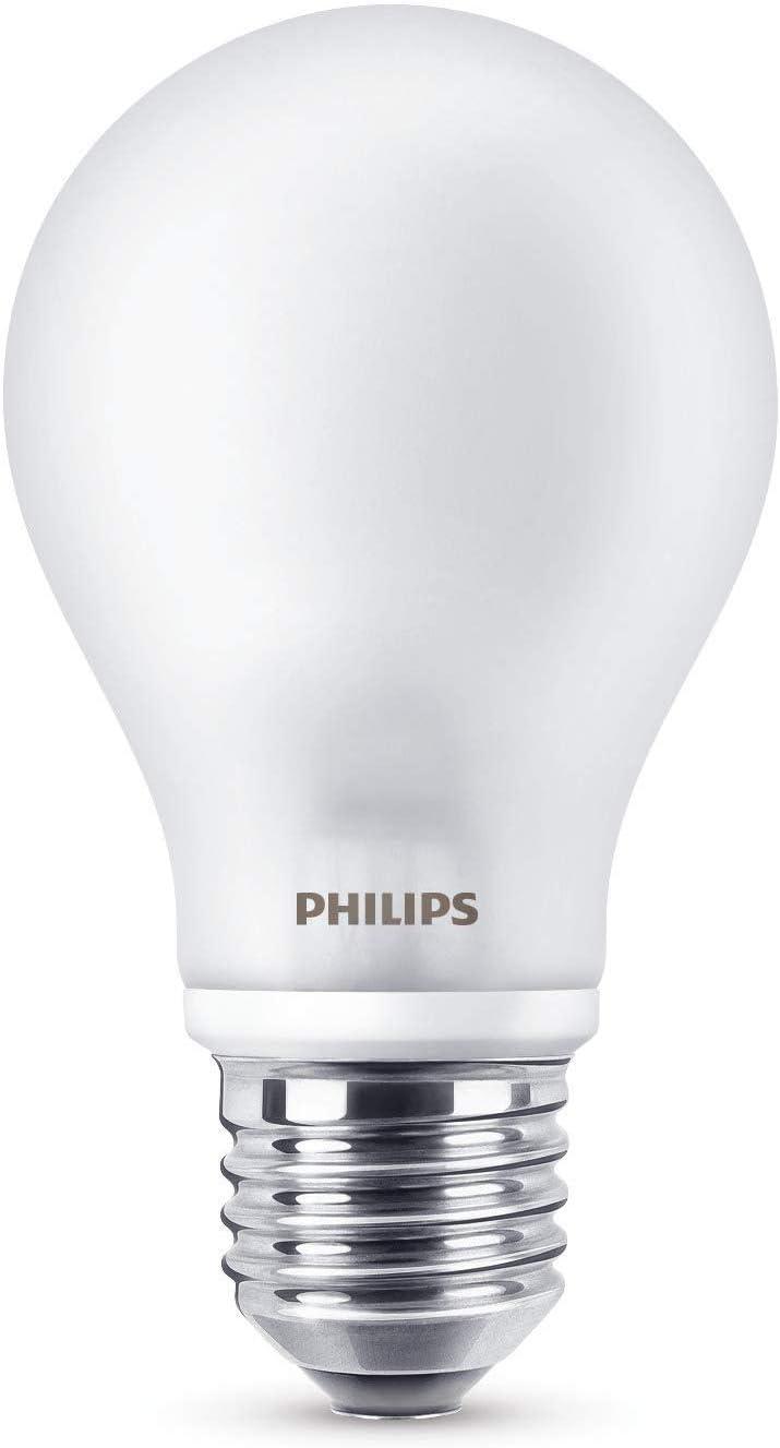 Philips 929001243001 - Bombilla LED estándar filamento, casquillo E27, consume 6.7 W (equivalente a 60 W), no regulable, luz blanca cálida, imita el efecto de una bombilla incandescente