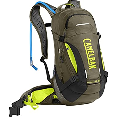 CamelBak M.U.L.E. LR 15 100 oz Hydration Pack, Burnt Olive/Lime Punch