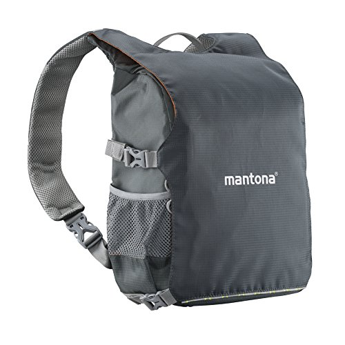 Mantona Elements Pro 30Doble Mochila para cámara–Negro/Naranja