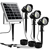 MEIKEE Solar Spot Lights Outdoor, 3 in 1 Solar Landscape Lights with Daylight White, IP66 Waterproof Solar Lights Outdoor Spotlight, Auto On\/Off Solar Spotlight for Yard Garden Driveway Patio