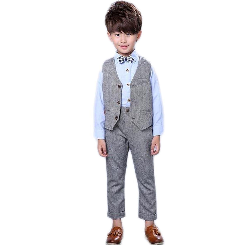 topmodelss 子供スーツ フォーマ 子供服 男の子 ベストズボン シャツ3点セット キッズスーツ 結婚式 七五三 入園式 入学式