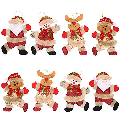 WUJOMZ 2020 Christmas Ornaments Sets of 8 Pcs, Funny Christmas Decorations for Christmas Tree