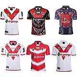 JUNBABY Maillot De Rugby De Saint George 2019, T-Shirt De Rugby édition Héros 2020, 2018 Maillots De Rugby édition Commémorative-2018red-XL