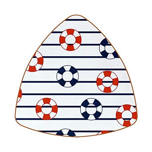 6 posavasos con diseño de diamantes, para tazas y tazas, salvavidas, flotador de rayas marinas