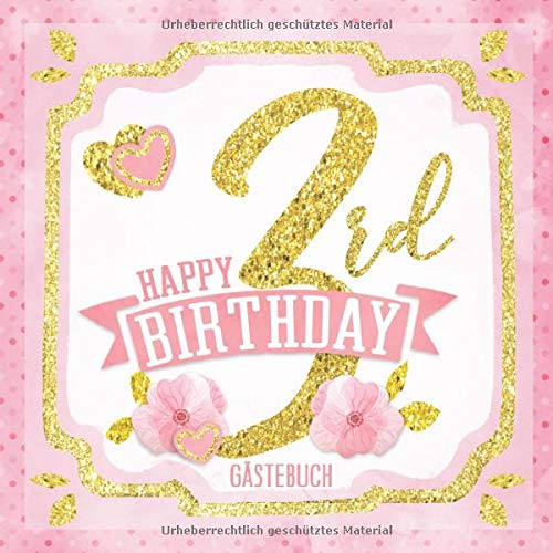 Happy 3rd Birthday Gästebuch: Mein 3. Geburtstag I Erinnerungen und Party Dekoration Rosa Gold für...