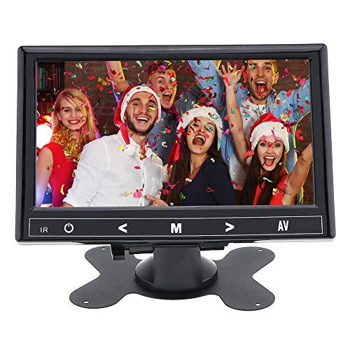 Moniteur CCTV HD 7 Pouces 1280 * 600 Écran LCD avec Port AV/VGA/HDMI Bouton Tactile Haut-Parleur pour DVR/PC/DVD Système de sécurité de Surveillance pour Le Bureau à Domicile