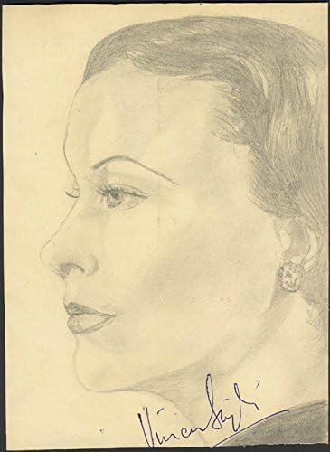 Great interest supreme Vivien Leigh - Signed Sketch