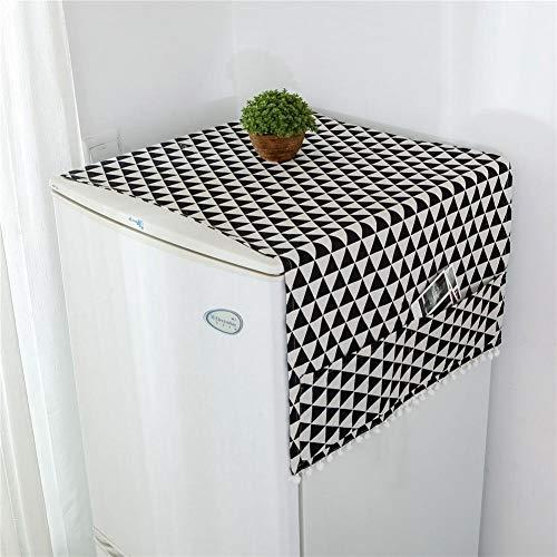 Multi Funktionsstaubschutz Kühlschrank Staubschutz Roller Waschmaschine Abdeckung Nordischen Stil Geometrische Muster Staubschutz Für Roller Waschmaschine Einzelne Tür Kühlschrank Tischdecke (3)