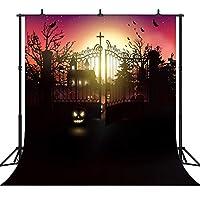 GooEoo ハロウィンテーマカボチャランタンカスタマイズされたシームレスなビニール写真の背景写真の背景スタジオプロップPGT203B