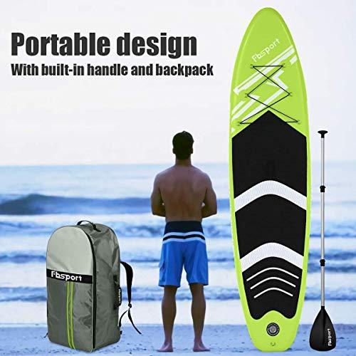 FBSPORT Tavola da SUP, 300×76×15 CM Tavola Gonfiabile, Stand Up Paddle Board, Tavola da Surf con Pompa e Accessori, Pagaia Regolabile