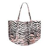 on Woman - Bolso de piel de leopardo de gran capacidad, estilo vintage, color Rosa, talla Talla única