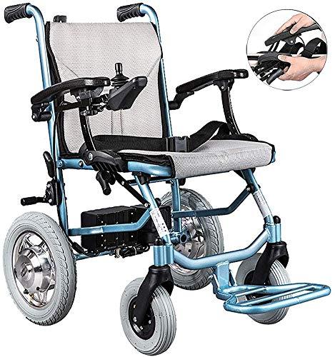 Dljyy Carry Elektrische rolstoelen, dubbele besturing, Lite aluminium, opvouwbaar, ultra licht, Elderly, intelligente lichtgewicht scooter, singlecontrol gyi/enkele bediening