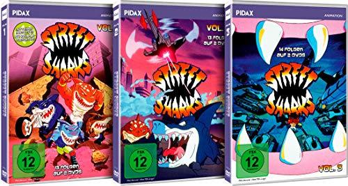 Street Sharks - Gesamtedition / Die komplette 40-teilige Zeichentrickserie auf 6 DVDs (Pidax Animation)