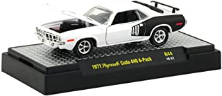M2 Machines 1:64 Detroit Muscle Release 44 1971 Plymouth Cuda 440 6 Pack White