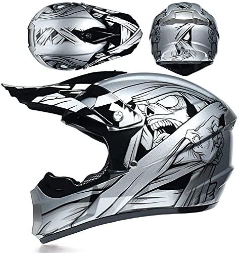 Aishengjia Motorradhelm, Motorrad Crosshelm, Motocross Enduro MTB Helm Kinder Crosshelm Motorradhelm Kinder, Motocross Helm Mit
