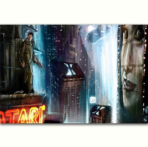 NOVELOVE Cuadro de Arte de Pared Blade Runner 2049 Movie Classic Posters Print Canvas Painting Sin Marco 50 * 70cm