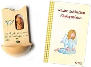 Made in Germany Taufe oder Kommunion; inkl Lebensbaum Fritz Cox Kinderweihkessel Weihwasser-Einsatz Holz-Kinder-Weihbecken Bedruckt