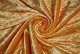 AllTissus Stoff Panne Velours Orange – Meterware