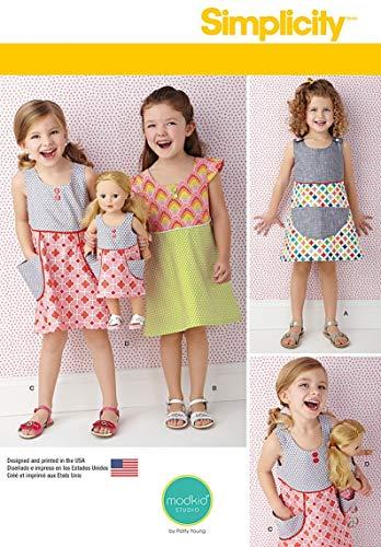 Simplicity Schnittmuster 7764.a Puppenkleid und Mädchen