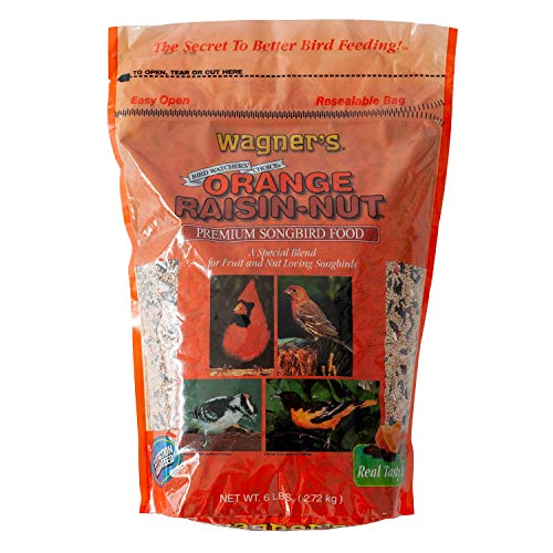 Wagner's 62055 Orange Raisin-Nut Premium Songbird Wild Bird Food, 6-Pound Bag