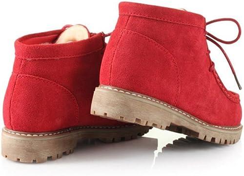 botas de nieve para mujeres Matorrales de goma de ocio botas de invierno , rojo , 41