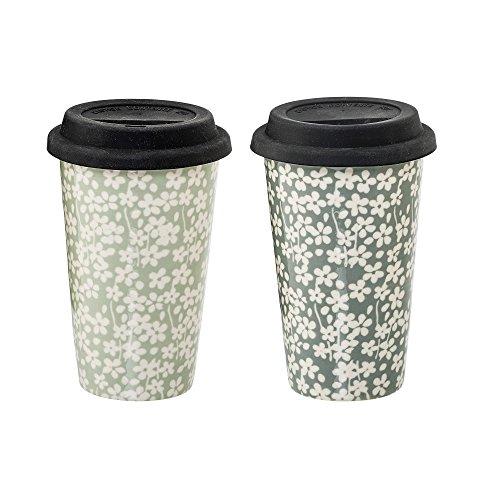 Bloomingville Kaffeebecher mit Deckel Seeke 2er Set