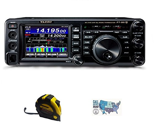 Bundle - 3 Items - Includes Yausu FT-991A HF/50/140/430MHz All-Mode Field Gear Radio with The New Radiowavz Antenna Tape (2m - 30m) and HAM Guides Quick Reference Card