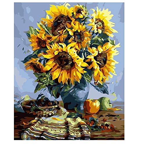 yinyinpu Cuadro para Pintar con Numeros Manualidades Adultos Artes y artesanías para Adultos Pintura Personalizada por números para Adultos A,40X50 No Frame
